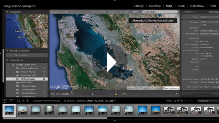 Lightroom 5: Viewing Images on a Map
