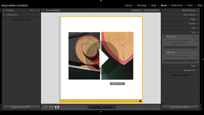 Book Module Basics in Lightroom 4