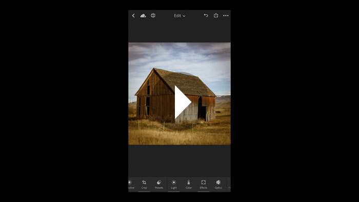 Applying Presets in Lightroom Mobile