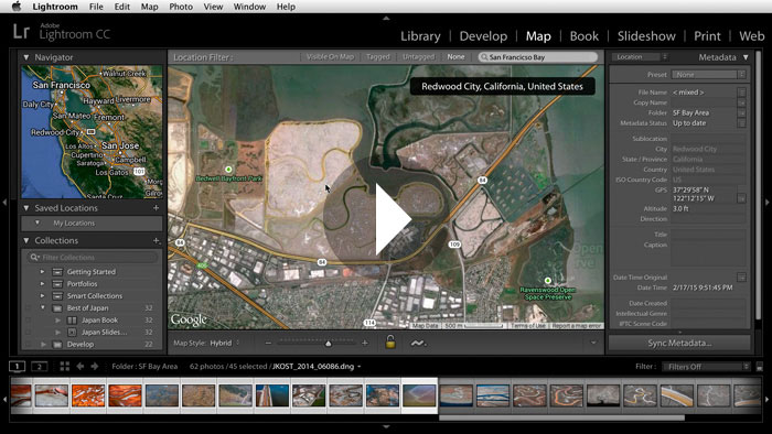 Getting Started in Lightroom CC: Viewing Images on a Map