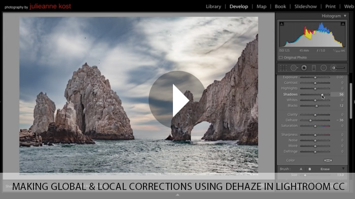 Making Global and Local Corrections using Dehaze in Lightroom CC