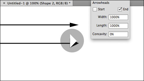 Quick Tip: How to Add Arrowheads to Lines in Photoshop