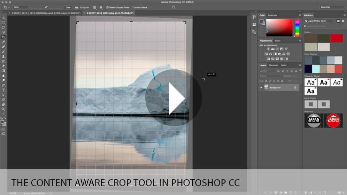 The Content Aware Crop Tool in Photoshop CC