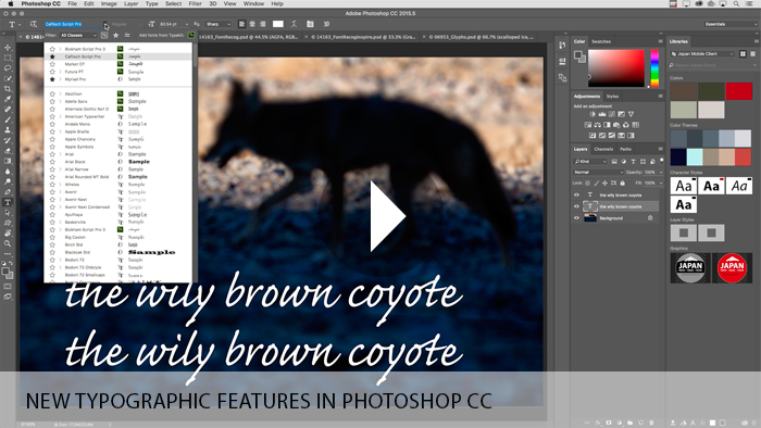 New Typographic Features in Photoshop CC
