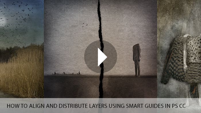 How to align and distribute layers using smart guides in Photoshop CC